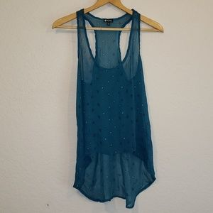 Lily White Tank Top with Hearts